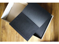 Box of 49 12x8inch photo portrait quality strut mount folders - spicer hallfield advanta
