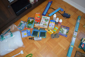 Assorted Aquarium Supplies