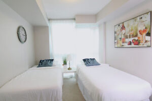 SUBLET MAY TO JULY - LUXURY CONDO - TWIN ROOM, FULLY FURNISHED