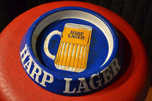 Harp Lager Beer Tray Vintage Retro Old Antique