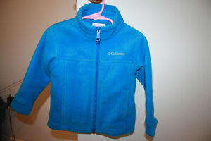 Columbia zip up blue fleece size 3T