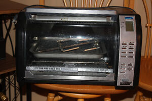 Large toaster oven with rotisserie