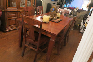 Pottery Barn Wood Table & 6 Chairs - REDUCED