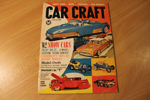 Vintage CAR CRAFT Magazines June 1962 and October 1962
