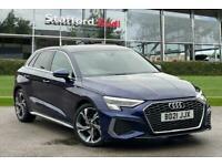 2021 Audi A3 Sportback S line 35 TFSI 150 PS S tronic Auto Hatchback Petrol Aut