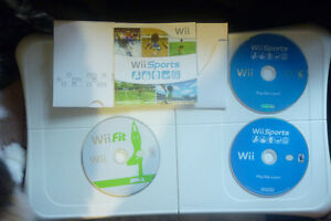 Wii Fit Board Wii Sports X2 Wii Fit Game & Wii Outdoor Challenge