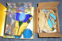Stained Glass Pre Cut Pieces. Over 70 pieces.