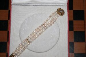 3 strand cultured pearl bracelet