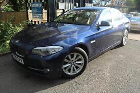 2011 (61) BMW 520D SE Blue 4 Door SAT NAV LEATHER SEATS Service History Finance