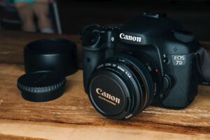 Canon 7D + EF 50mm f/1.4 USM (2 batteries / 16Gb+32Gb)