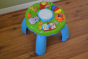 Table d'éveil Leap Frog, trotteur & jouets jungle fisher-price