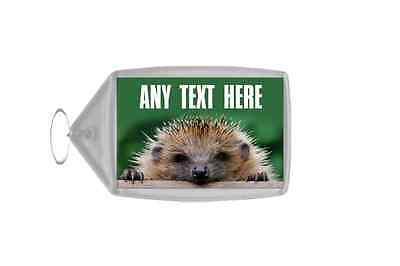Hedgehog Personalised Keyring