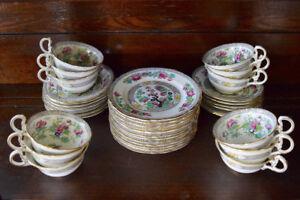 Antique Fine China Luncheon Set