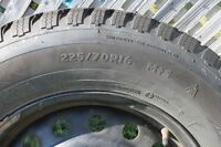 225/70R16 tires on rims for sale.