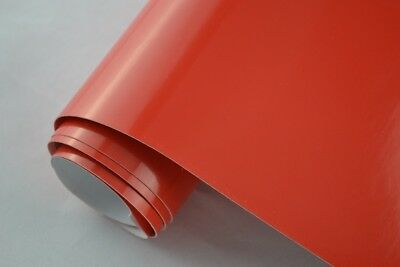 16,85€/m² Auto Folie ROT GLANZ - 30 x 152 cm Klebefolie selbstklebend glänzend