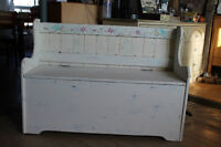 Chalk Painted Deacons bench