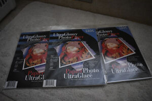 Ultra Glossy Photo Paper- BRAND NEW- 3 packages for $10