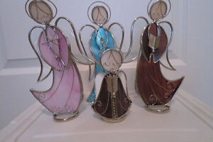 STAINED GLASS ANGELS FROM MASTERMARK PEWTER