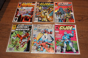 GI Joe & Transformers Lot Low Grade Marvel Comics