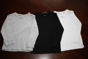 3 H&M Organic Cotton Long Sleeve Shirts Size 2-4