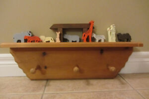 Noah's Ark Bookshelf and clothes hanger