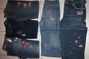 GIRLS GAP SIZE 14 16 EMBROIDERED JEANS PANTS CLOTHING NEW