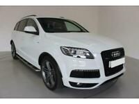 2015 WHITE AUDI Q7 3.0 TDI 245 QUATTRO S LINE PLUS CAR FINANCE FR £337 PCM