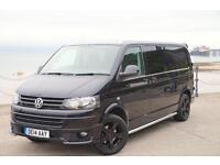 2014 VW TRANSPORTER T5 KOMBI HIGHLINE 102TDI T30 BLACK SPORTLINE 6-SEATER LWB