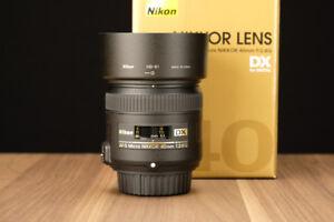 Objectif Nikkor AF-S DX Micro 40mm F2.8G