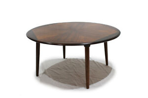 H.W. Klein Rosewood Coffee Table w Starburst pattern