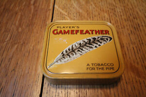 PLAYERS GAMEFEATHER TOBACCO TIN