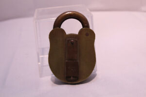 Antique Heavy Brass & Copper Padlock Walsall Locks & Cart Gear