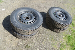 Winter Tires, Set with  Steel Rims