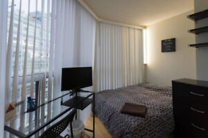 Furnished all-inclusive room in luxury condo Wellesley & Yonge