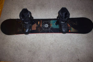 K2 Anagram 163 Snowboard, with Ride boots and Bindings.