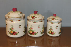 Royal Albert Old Country Roses Canister Set