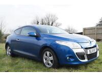 2011 Renault Megane VVT Dynamique 1.6 110bhp Coupe in Blue OFFERS INVITED