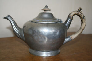 Vintage Victorian Pewter Teapot Sheffield (Shaw & Fisher)