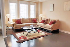 Modern Living / Family Room Sofa and Loveseat Beige