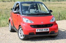 2010/60 Smart fortwo 1.0 MHD Pulse, Only 29,000 Miles, Convertible