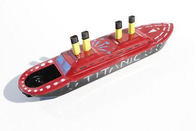 Blechspielzeug / Pop Pop Boot handbemalt 35cm