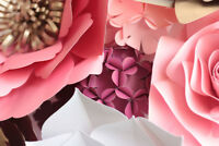 Paper Flower Backdrop Rental