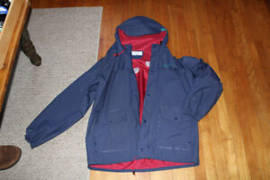 columbia rain outer shell jacket with hood large