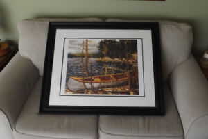 GROUP OF SEVEN contemporary Tom Thomson Large framed THE CANOE