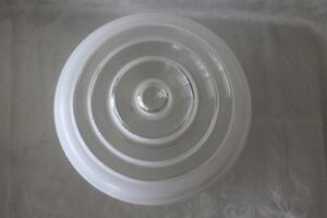 Vintage Ceiling Light Lamp Shade Globe *White & Clear Glass*