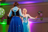 Anna and Elsa Magical Frozen Princess Parties in HRM!