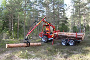 Small Scale Forestry Equipment for ATV & Tractor ,Mini Forwarder