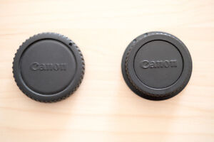 Canon lens mount and camera mount caps