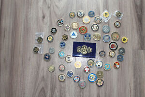 50+ Police/ Law-enforcement challenge coins.