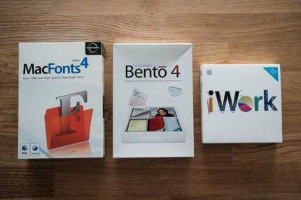 DOWNSIZING SALE: MacFonts4, Bento, iWork - VERY GOOD CONDITION!